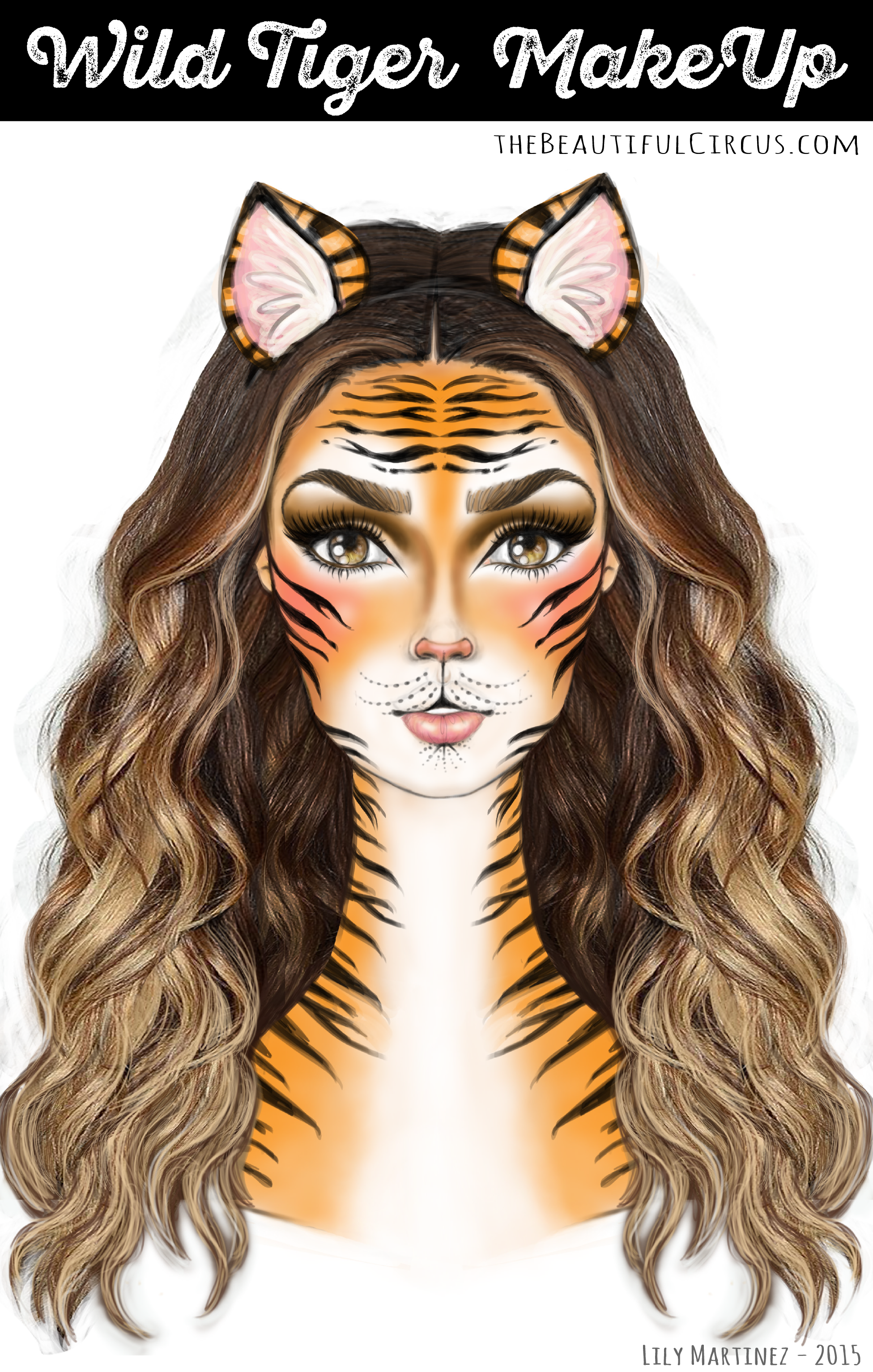 Wild tiger the beautifulcircus wild tigermakeup look baditri Image collections