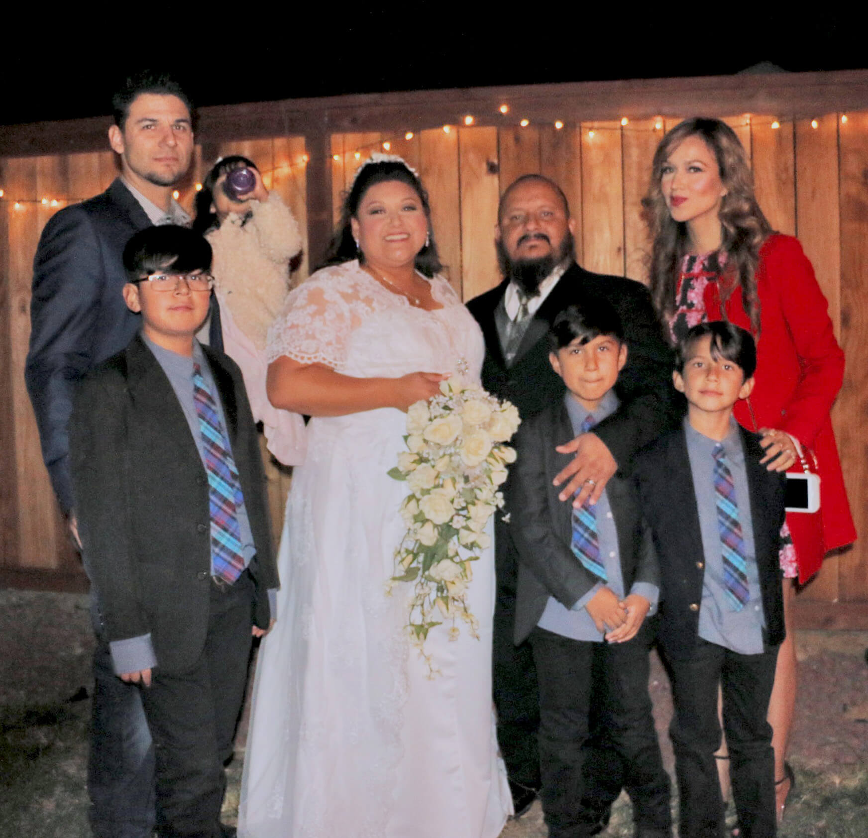 wedding pic with Ana n Ivan